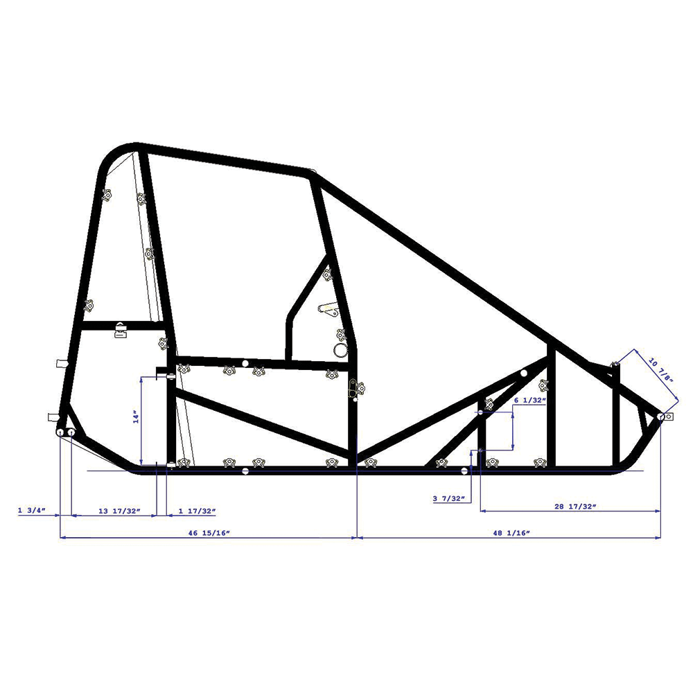 hoosier speed right side dimensions